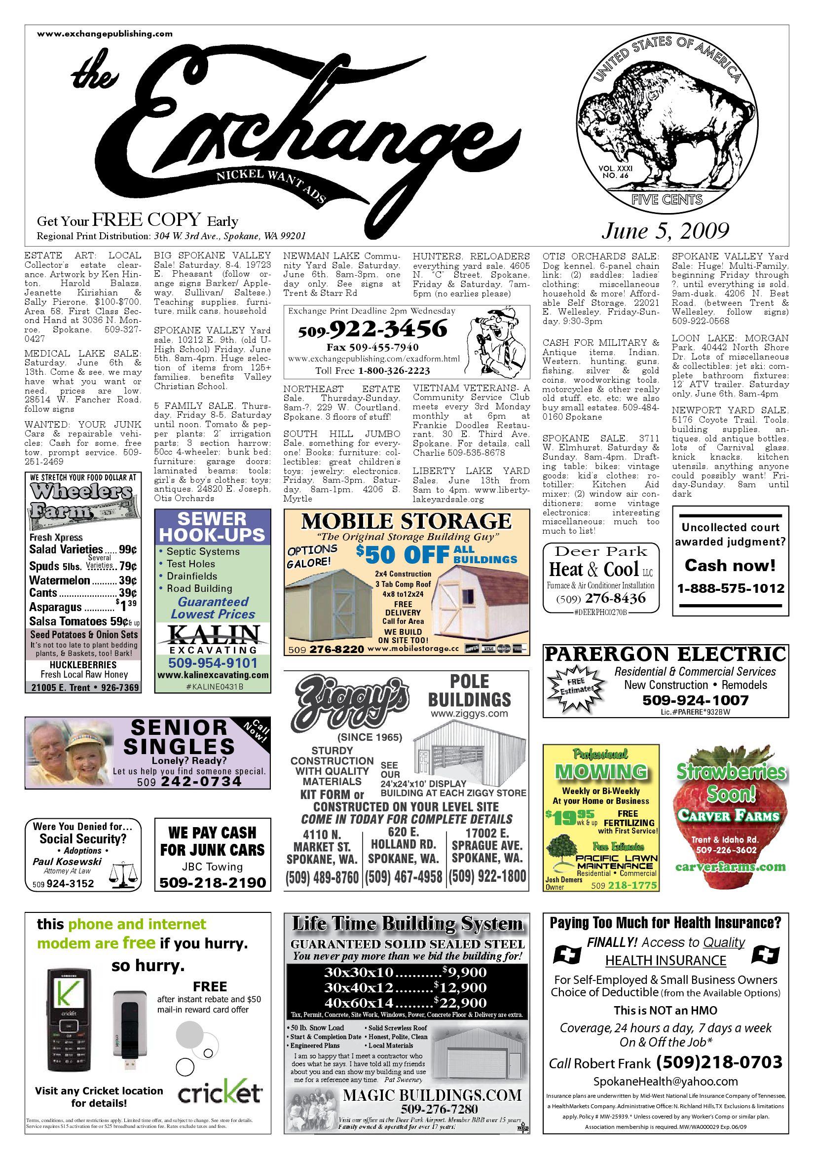 Exchange - June 5, 2009 by Exchange Publishing - issuu