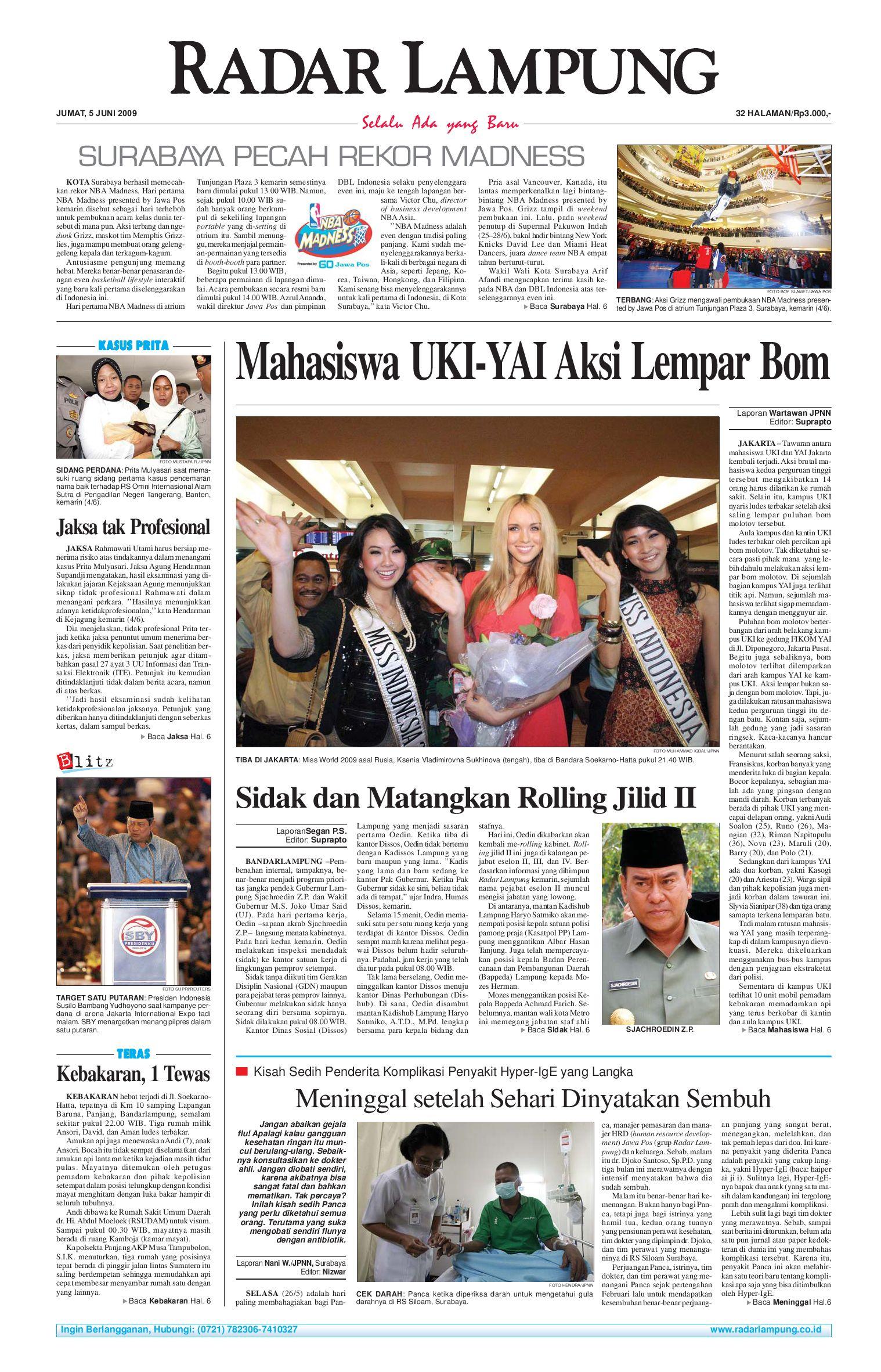 Radar Lampung Jumat 5 Juni 2009 By Issuu Parcel Makanan Ampamp Keramik Pja 1608