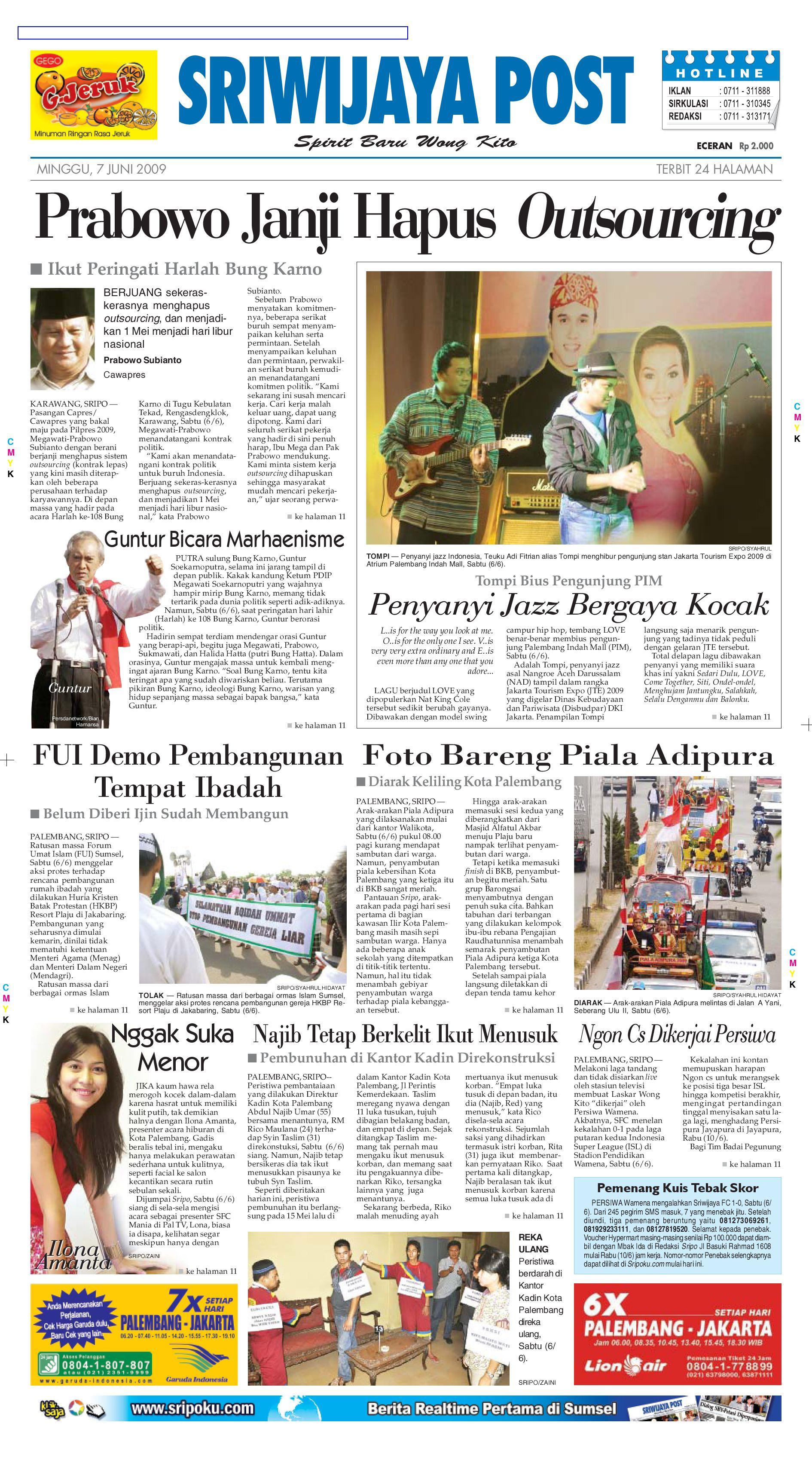 Sriwijaya Post Edisi Minggu 07 Juni 2009 By Yulius Saputra Issuu Agung Voucher Hypermart 50000 Bth
