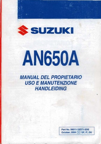 manual de usuario burgman 650 by burgmakina team burgmakina team issuu rh issuu com suzuki burgman 650 manual repair suzuki burgman 650 manual free download