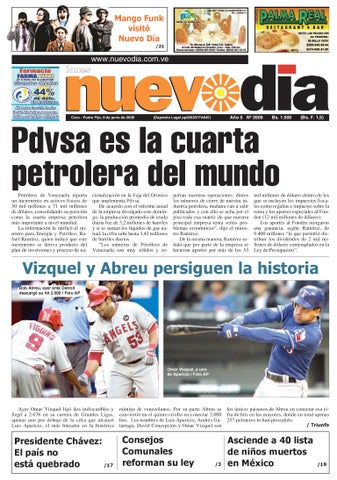 f9eeb3ca989b7 Diario Nuevodia Lunes 08-06-2009 by Diario Nuevo Día - issuu