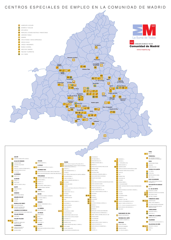 Mapa de los centros especiales de empleo en madrid by - Centros de jardineria madrid ...