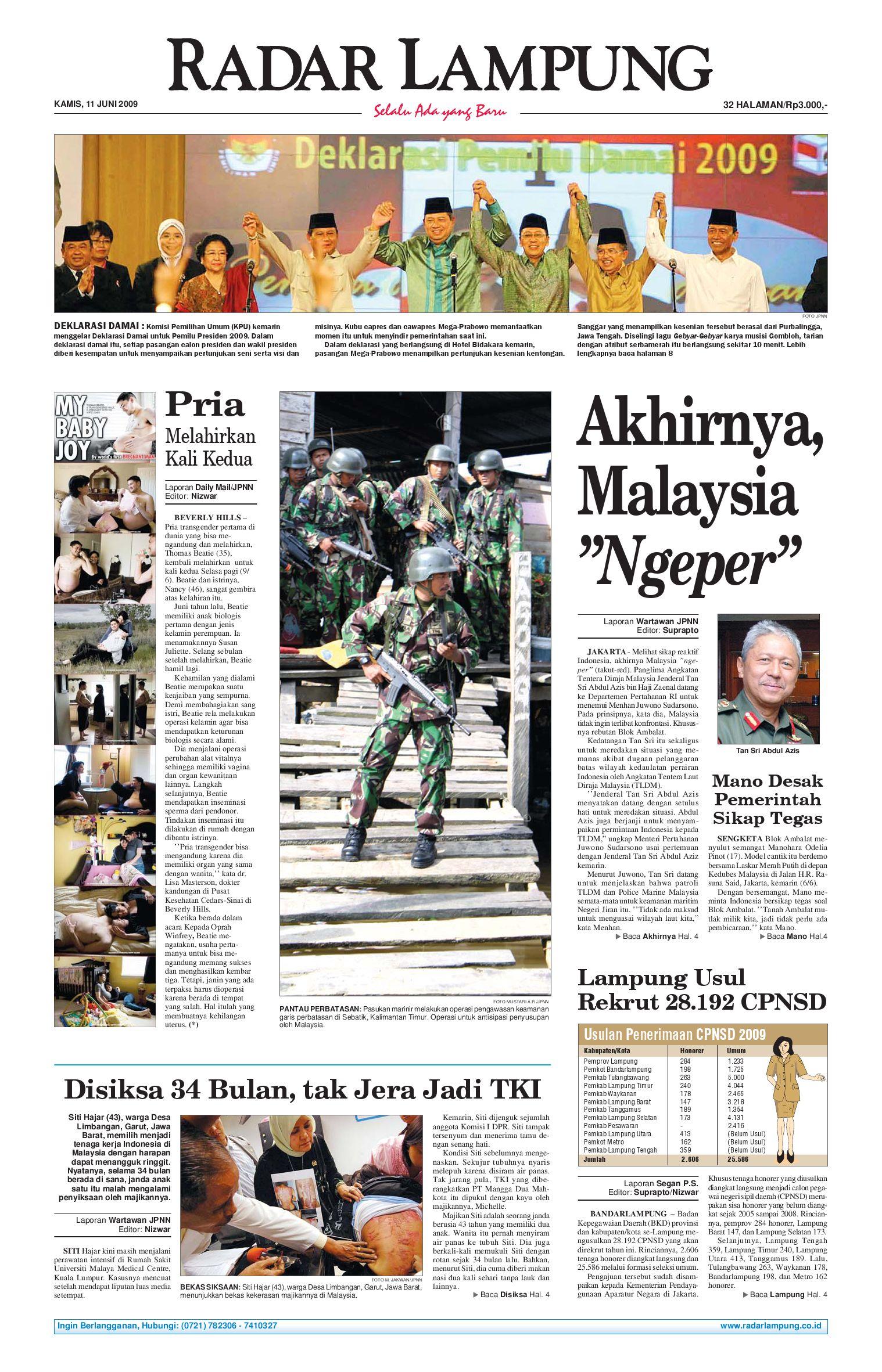 Radar Lampung Kamis 11 Juni 2009 By Issuu Parcel Makanan Ampamp Keramik Pja 1608