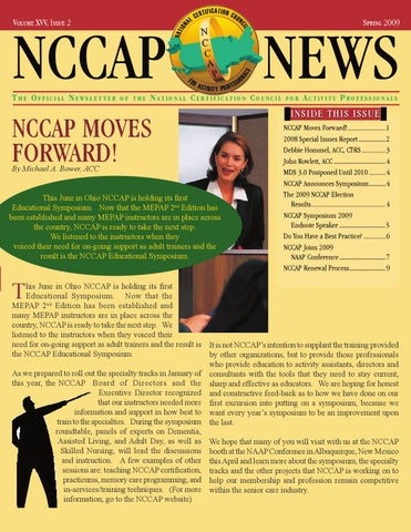 NCCAP Moves Forward! by National Certification Council For Activity ...