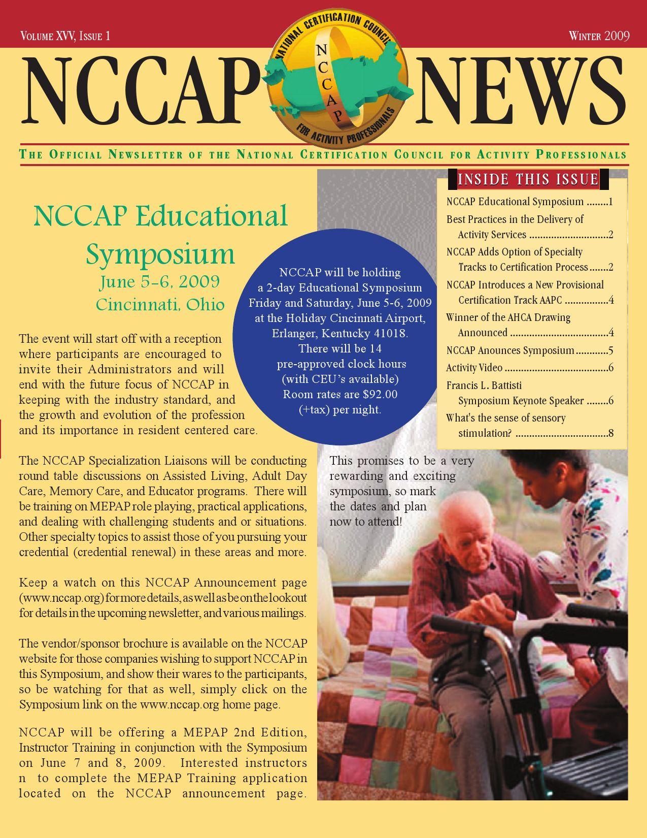 Nccap educational symposium by national certification council for nccap educational symposium by national certification council for activity professionals issuu xflitez Gallery