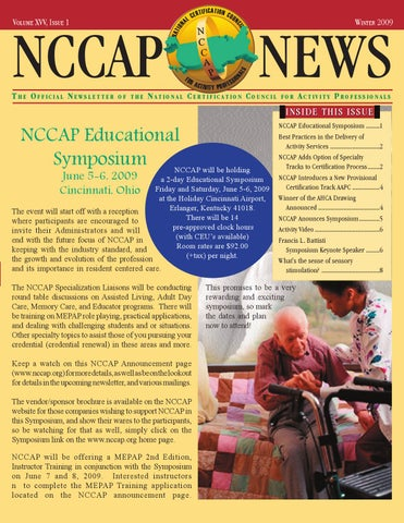 NCCAP Educational Symposium by National Certification Council For ...