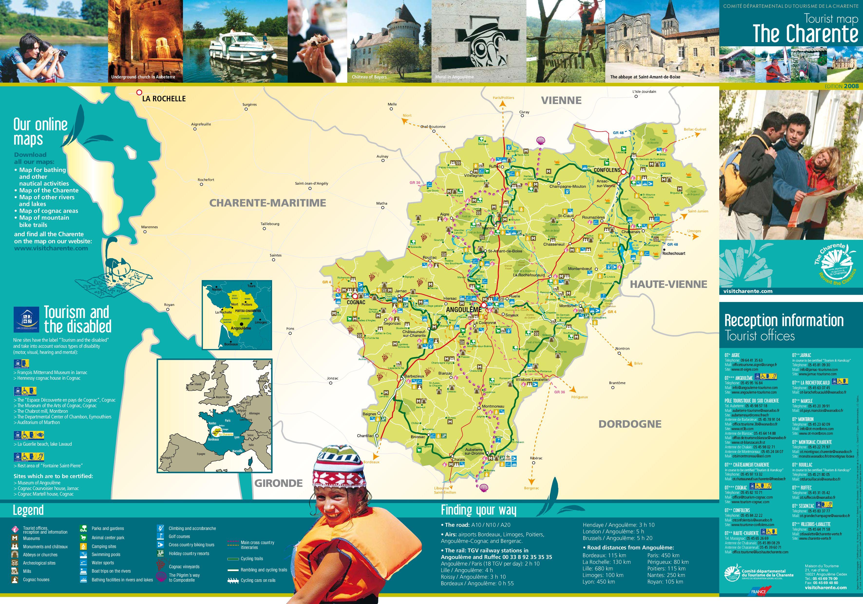 Charente Map By Frans Bureau Voor Toerisme Issuu