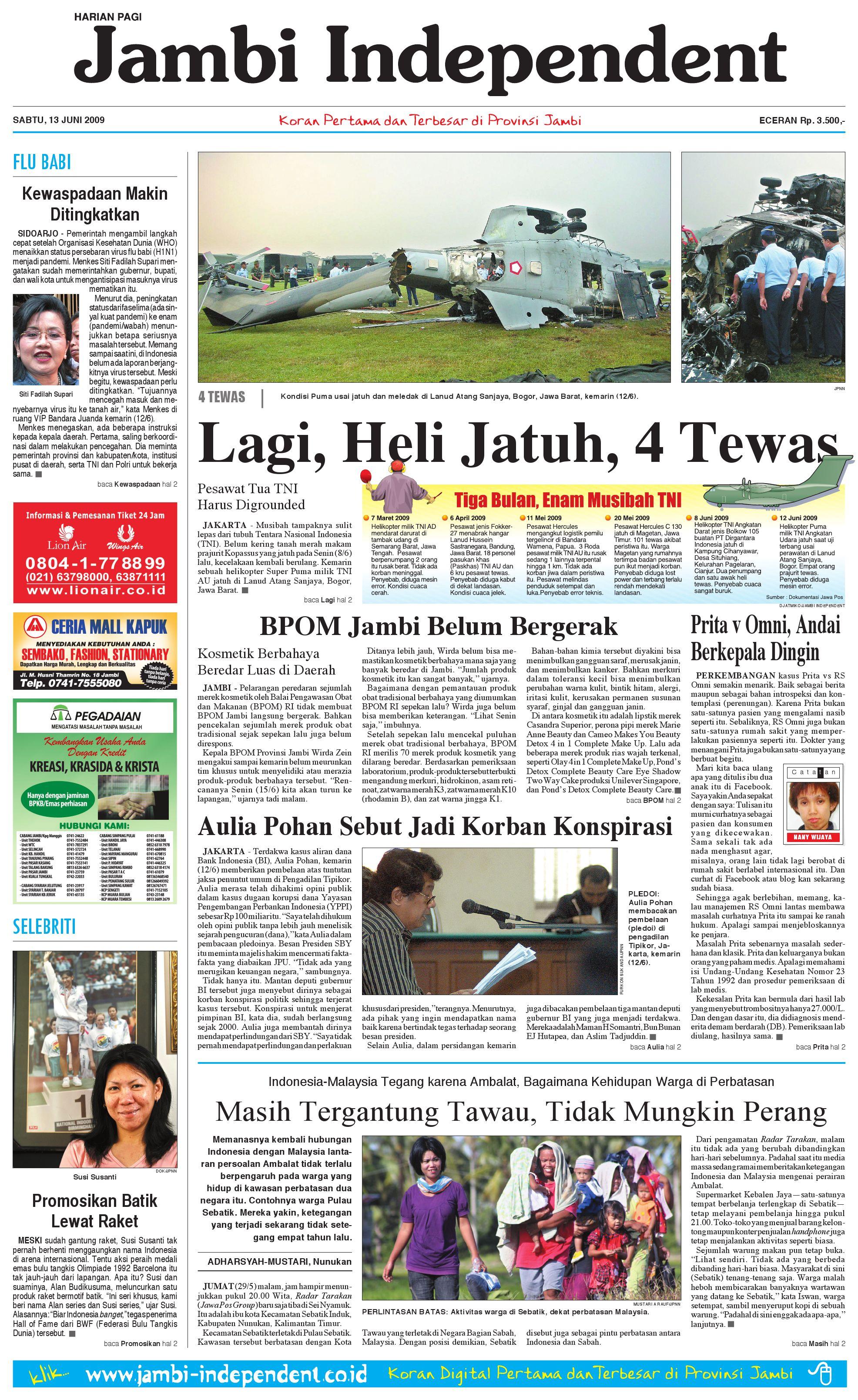 Jambi Independent edisi 13 Juni 2009 by jambi independent - issuu 1dc1004df3