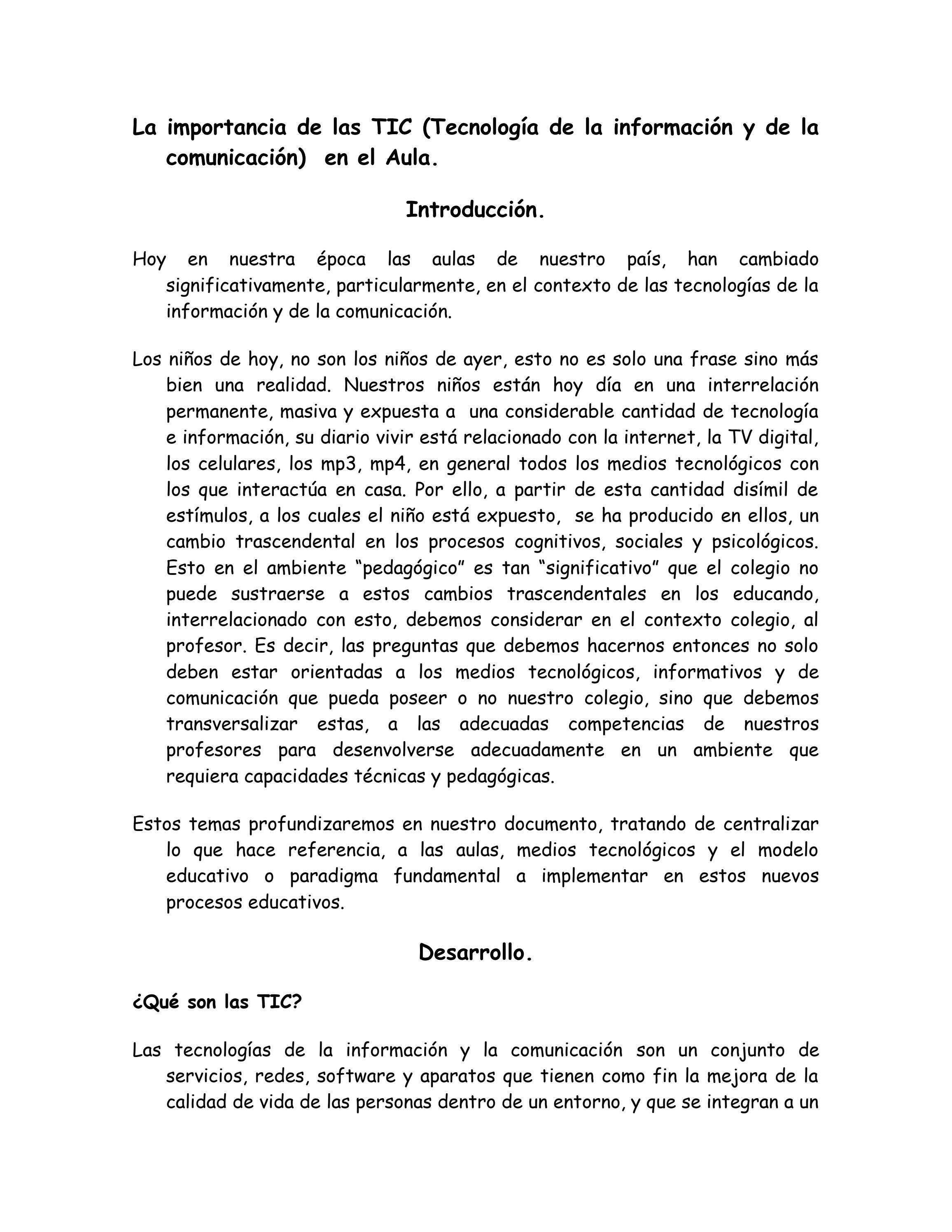 La importancia de las TIC en el Aula by Marcelo Hidalgo - issuu