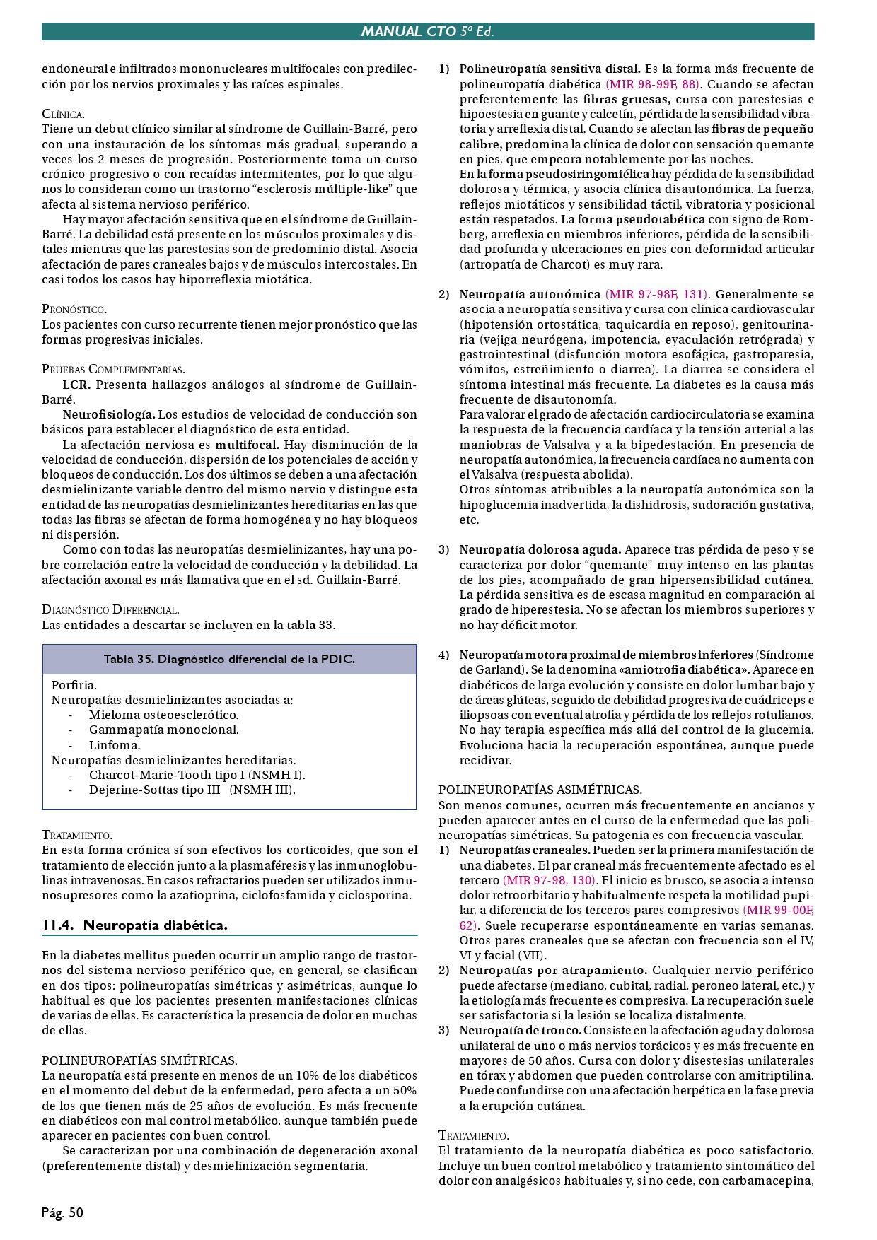 neuropatía craneal en diabetes
