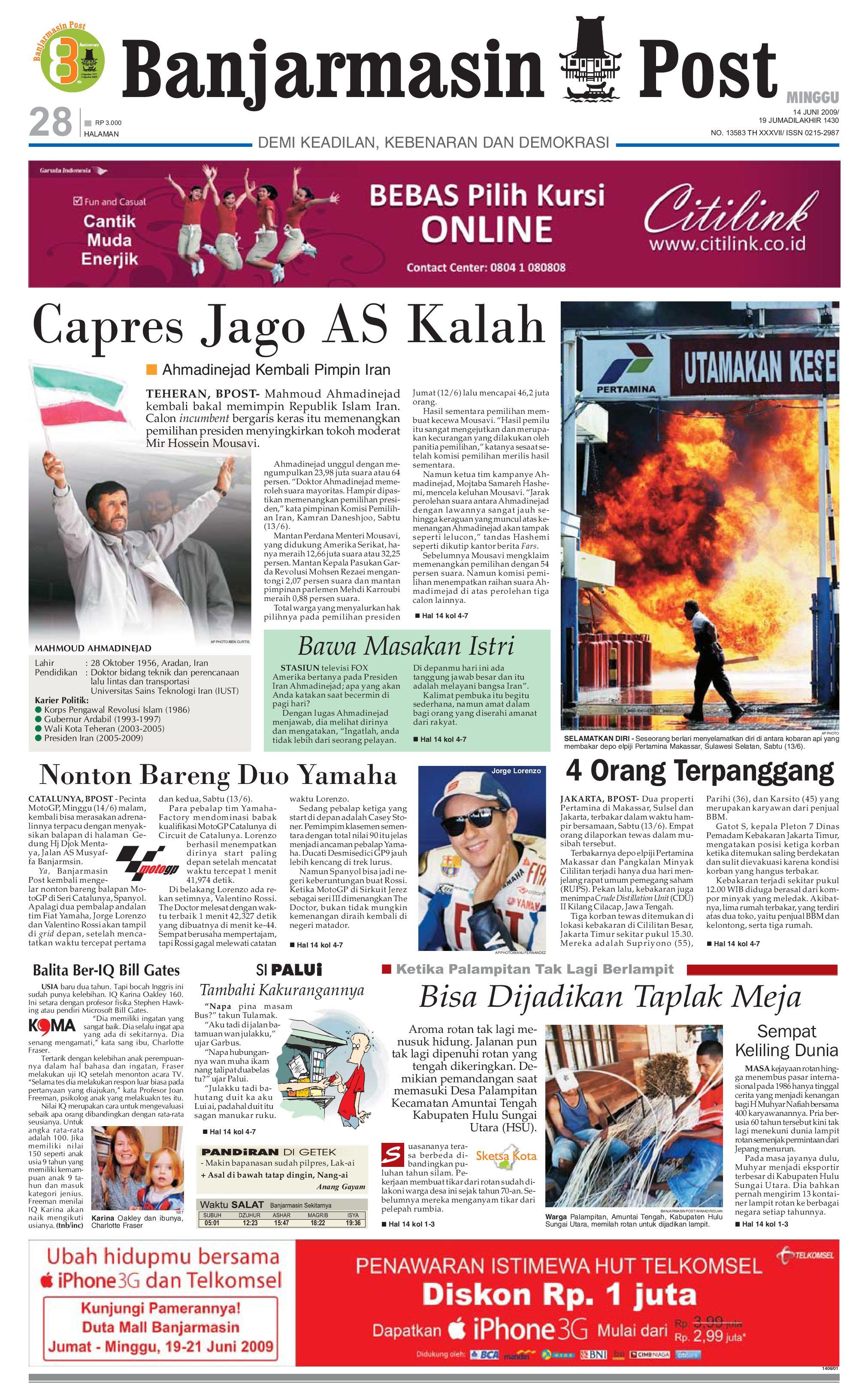 Banjarmasin Post Edisi Minggu 14 Juni 2009 By Tcash Vaganza 17 Botol Minum Olahraga Discovery 750ml Hitam Issuu