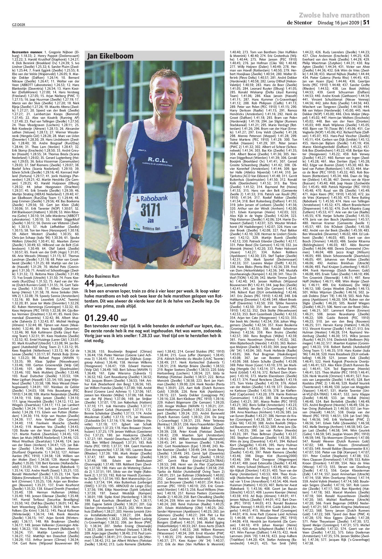 uitslagen zwolse halve marathon 2009 by de stentor issuu