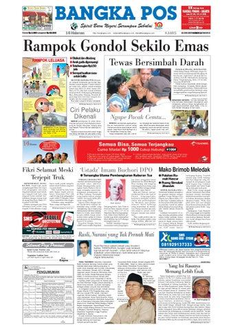 Harian Pagi Bangka Pos Edisi 18 Juni 2009 By