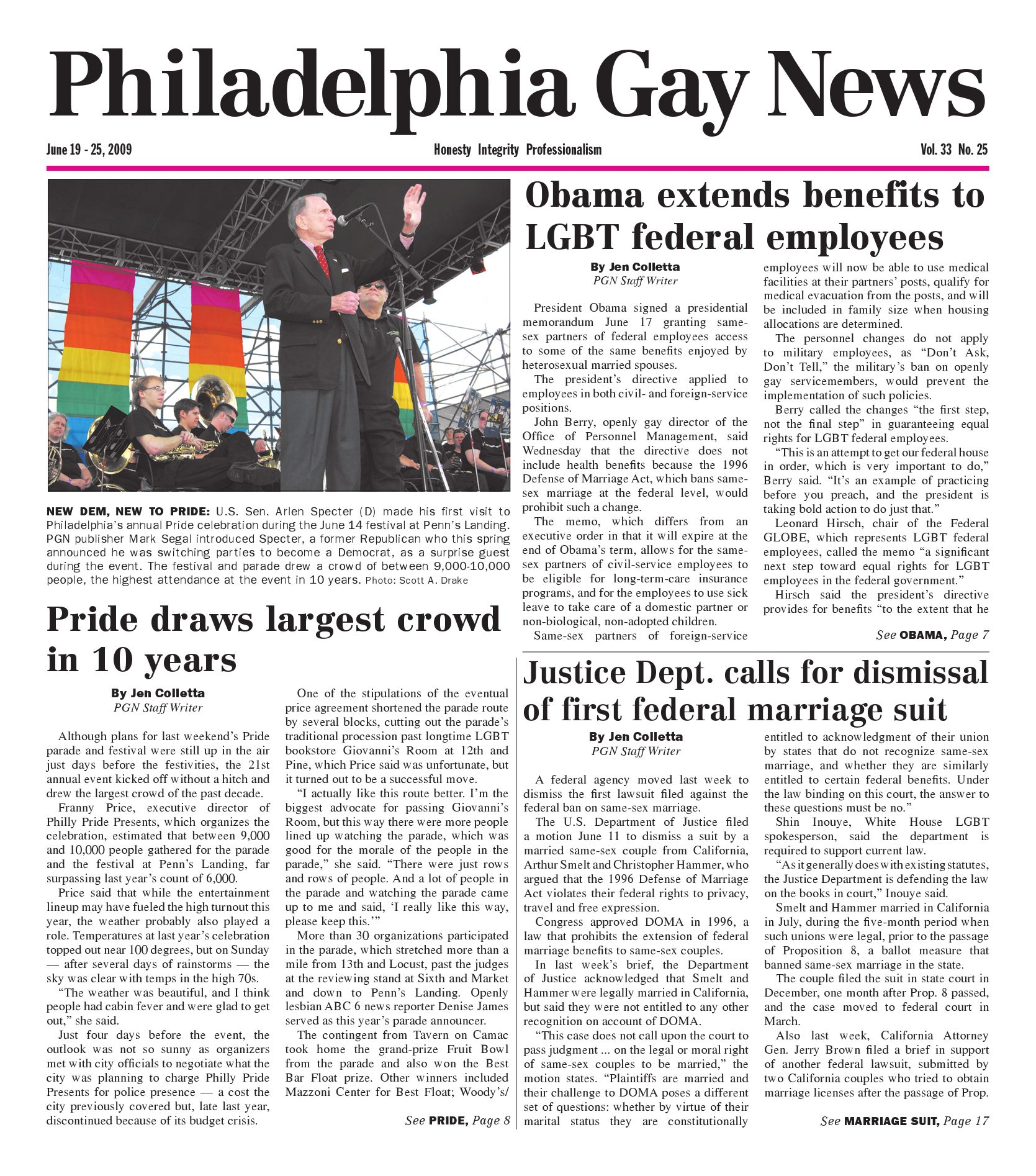 Pgn June 19 - 25, 2009 Edition By The Philadelphia Gay -5327