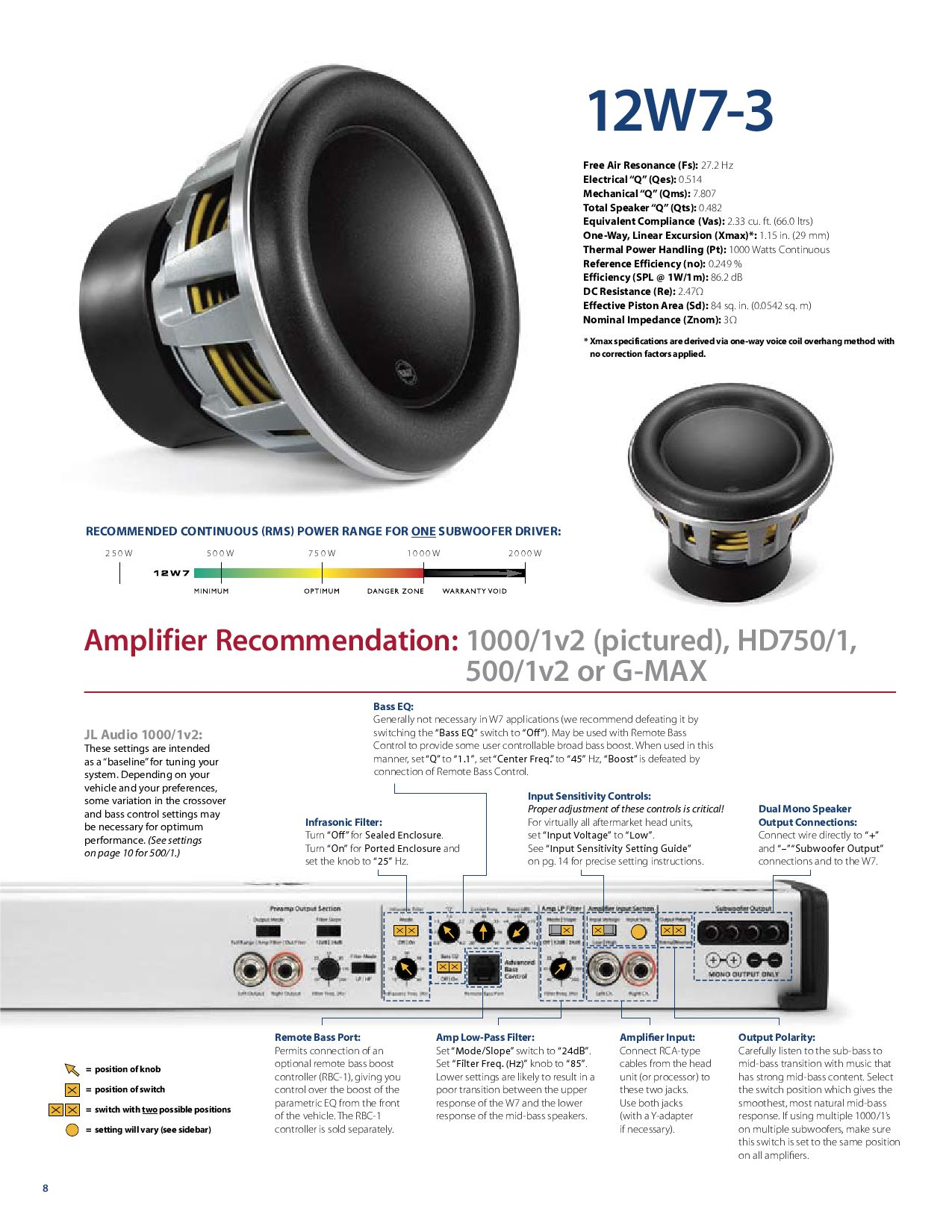 jl audio 12w7 manual by talk audio online issuu rh issuu com JL Audio 500 Watt Amp jl audio 500 1 v2 manual