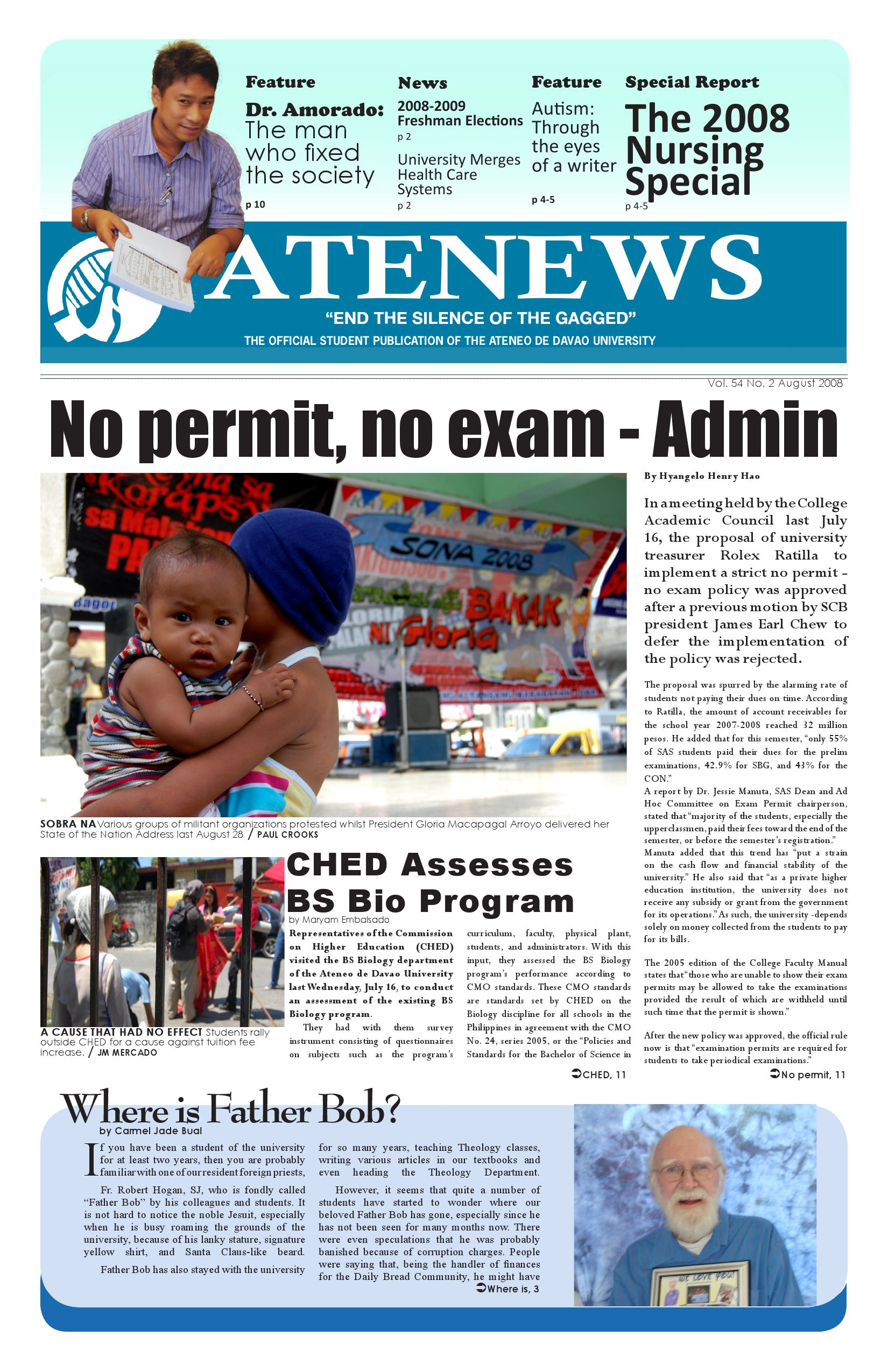 ATENEWS August 2008 Special Release by Atenews AdDU - issuu