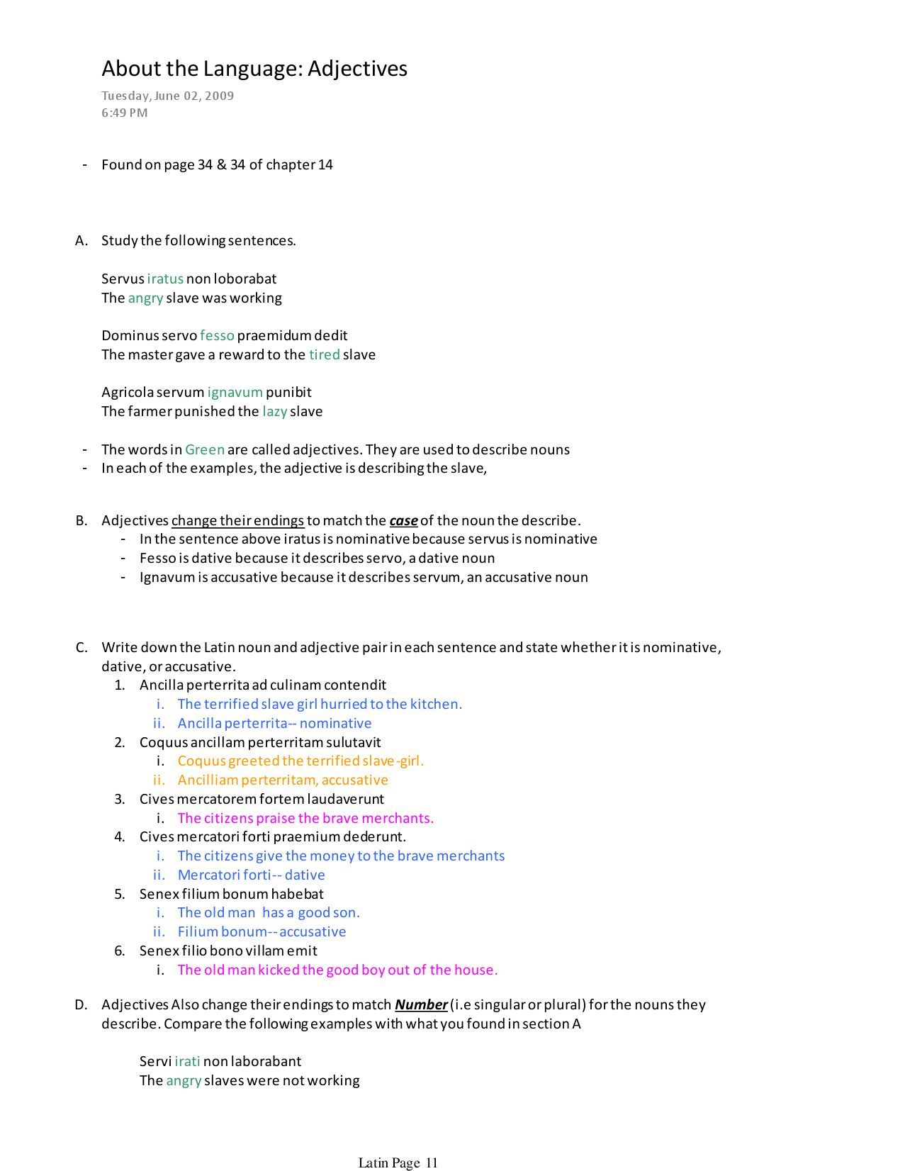 Latin Ii Final Exam Study Guide By Austin Lucas Issuu