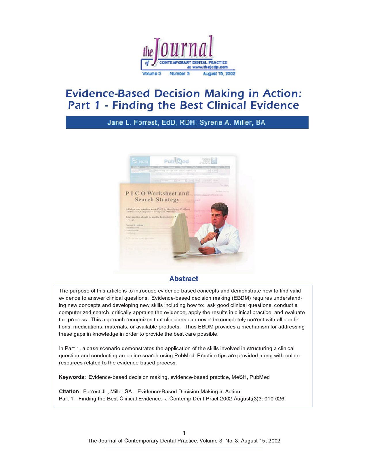 EvidenceBased Decision Making in ActionPart 1 Finding the Best – Decision Making Skills Worksheets