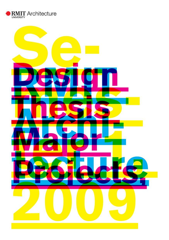 Rmit Architecture Design Thesis Major Project Catalogue Semester