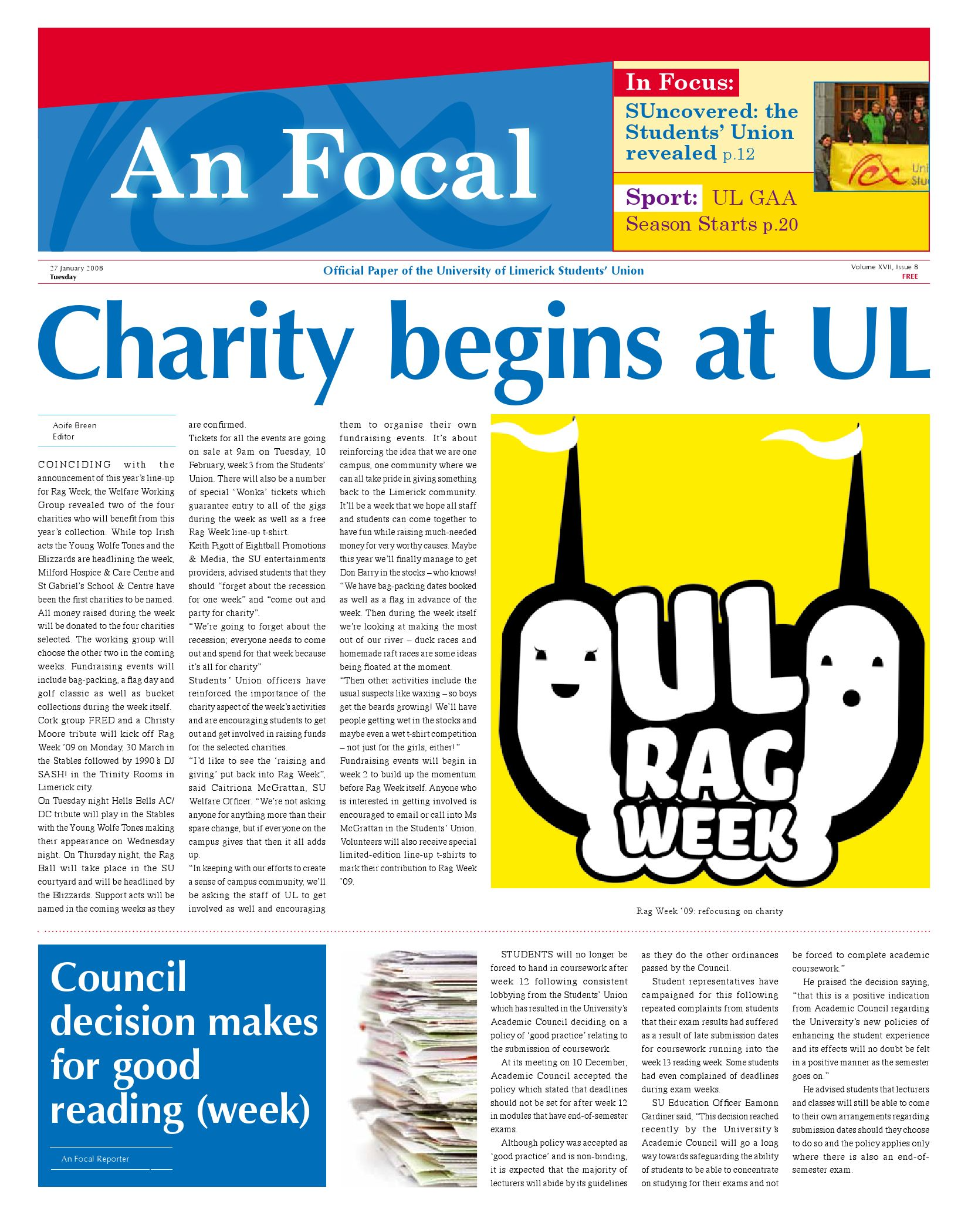 An Focal Volume XVII Issue 8 by An Focal ULSU - issuu