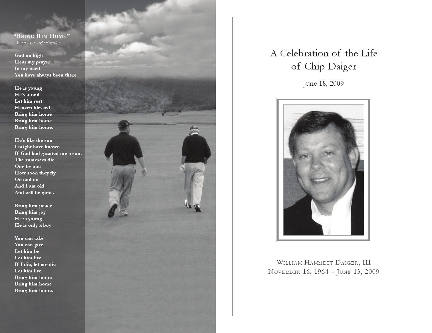 Chip Memorial Program by dax cummings issuu