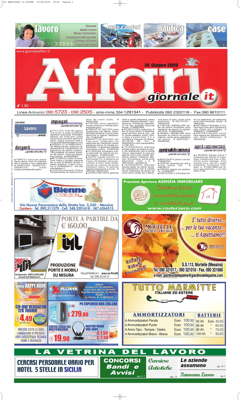 Giornale Affari 24 Giugno 2009 by Editoriale Affari Srl - issuu 7cce317ca25