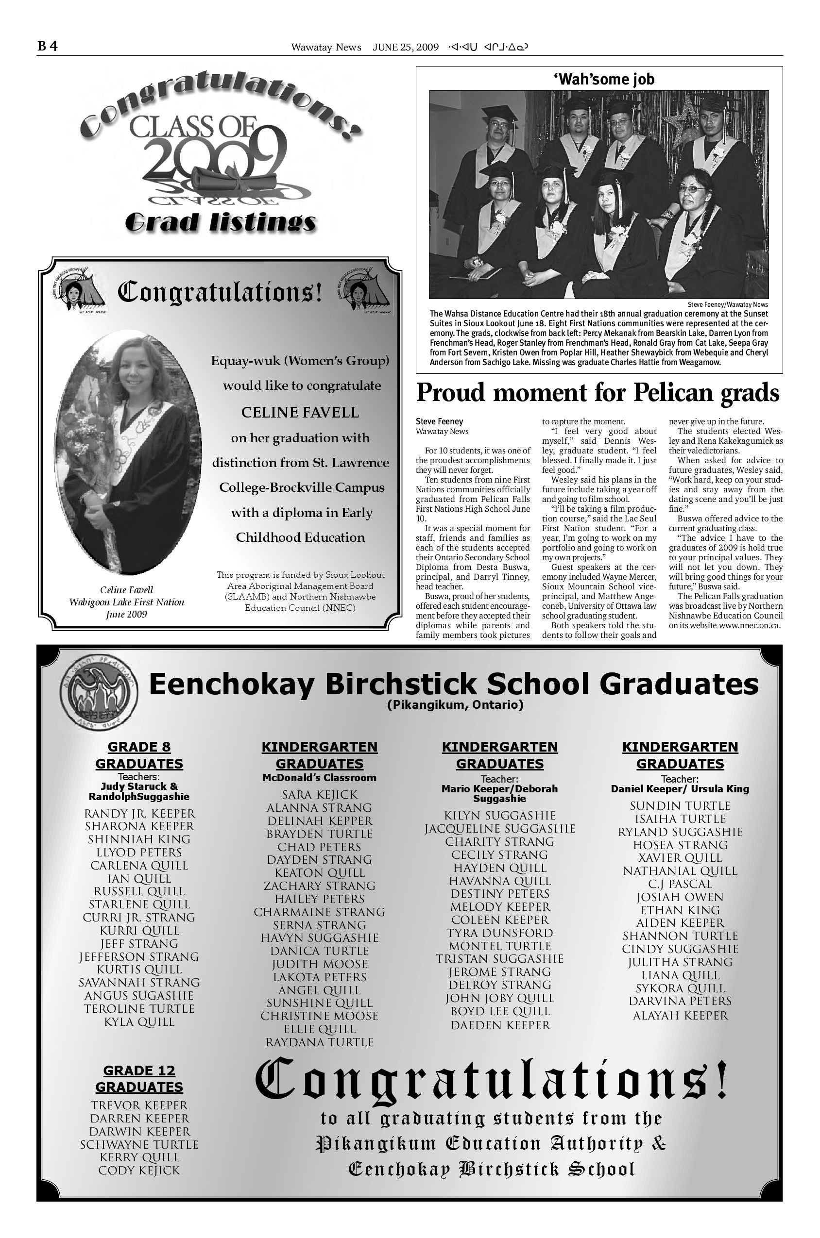 June 25, 2009 by Wawatay News - issuu
