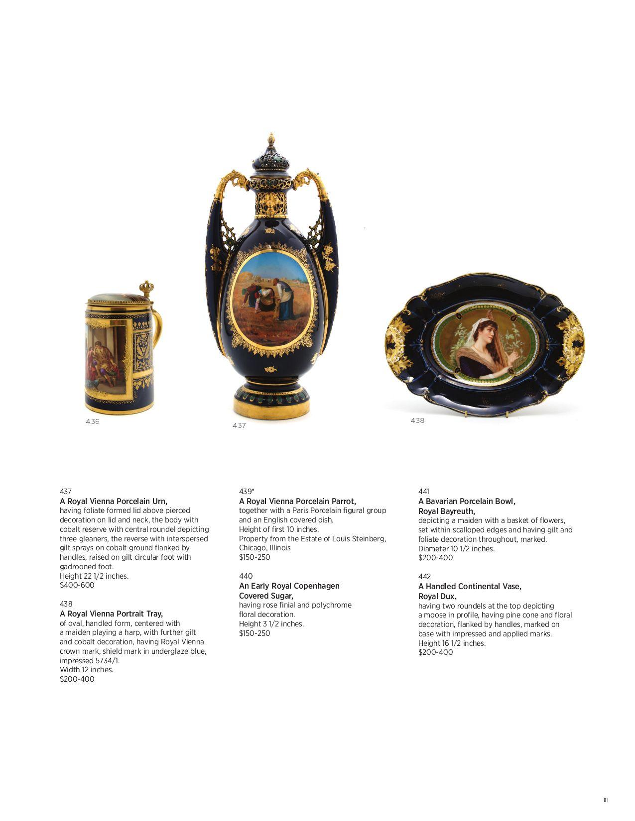 Marks porcelain royal vienna ROYAL VIENNA