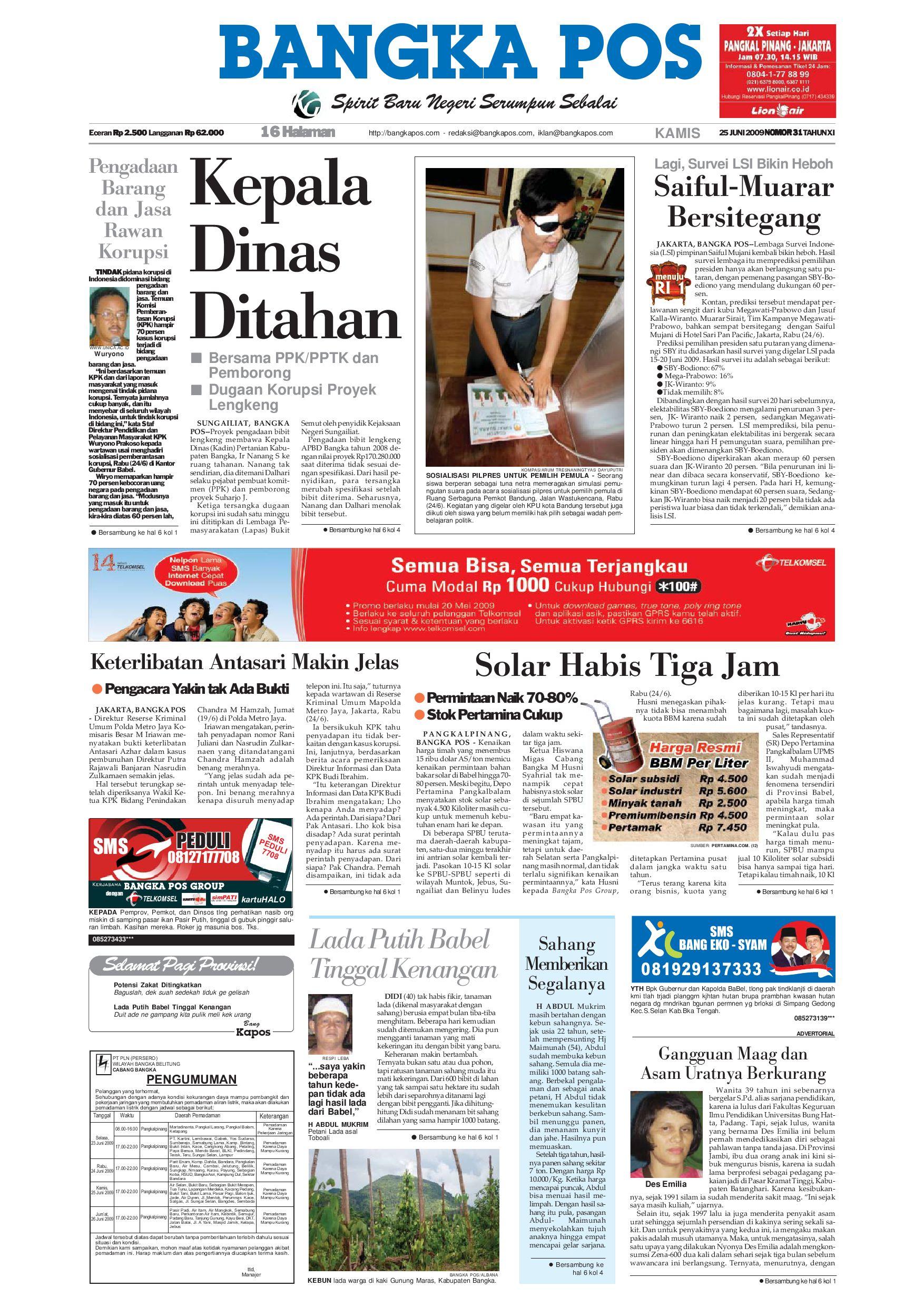 Harian Pagi Bangka Pos Edisi 25 Juni 2009 by bangka pos - issuu eded3518f3