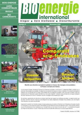 r06 bio nergie international novembre 2008 comparatif scies fendeuses by bioenergie. Black Bedroom Furniture Sets. Home Design Ideas