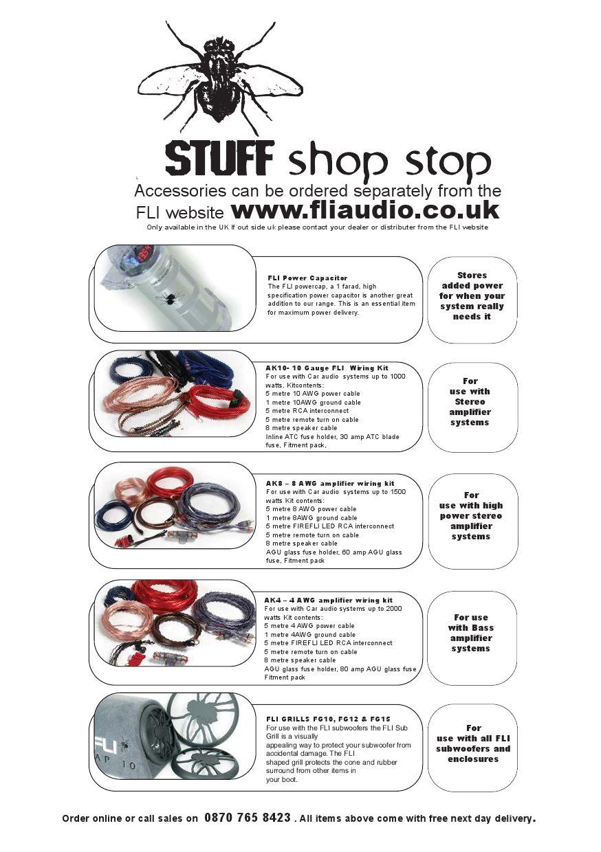 FLI Audio Loaded 1000m Amplifier Manual by Talk Audio Online