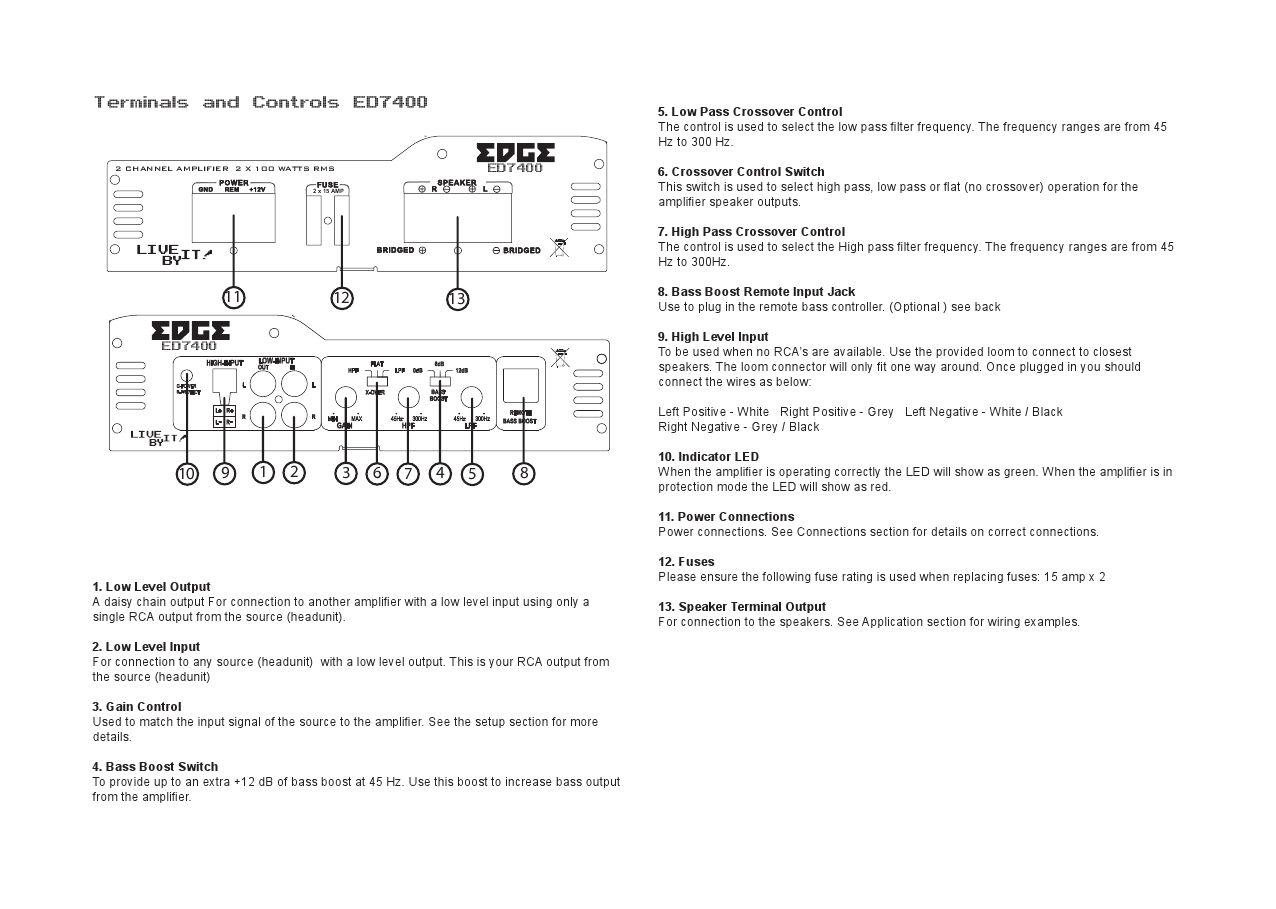 Edge Car Audio ED7 Amplifier Manual by Talk Audio Online - issuu
