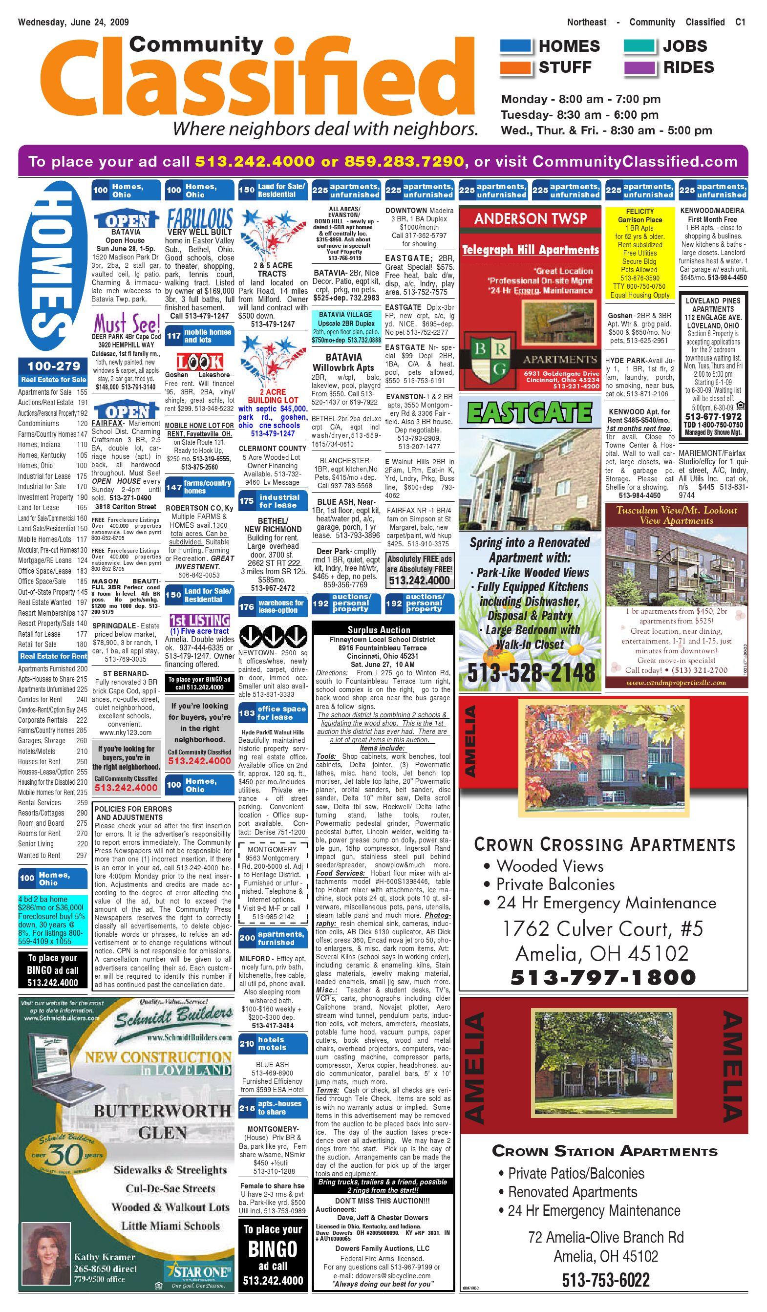Community Classified Northeast 06252009 By Enquirer Media Issuu Jayco Skylark Fuse Box Location