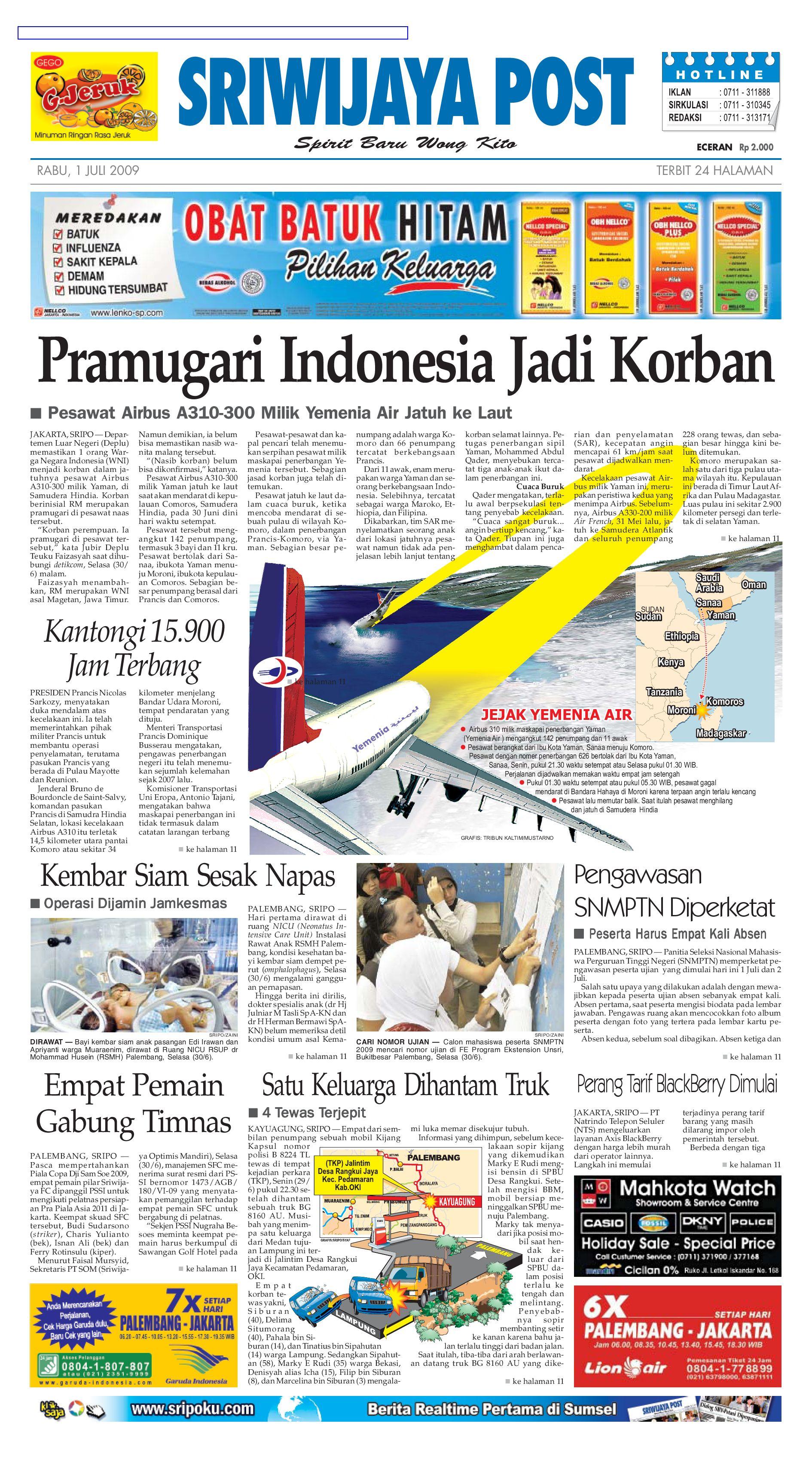 Sriwijaya Post Edisi Rabu 01 Juli 2009 By Yulius Saputra Issuu Nature Pecinta Voucher Hypermart 50000 Alam