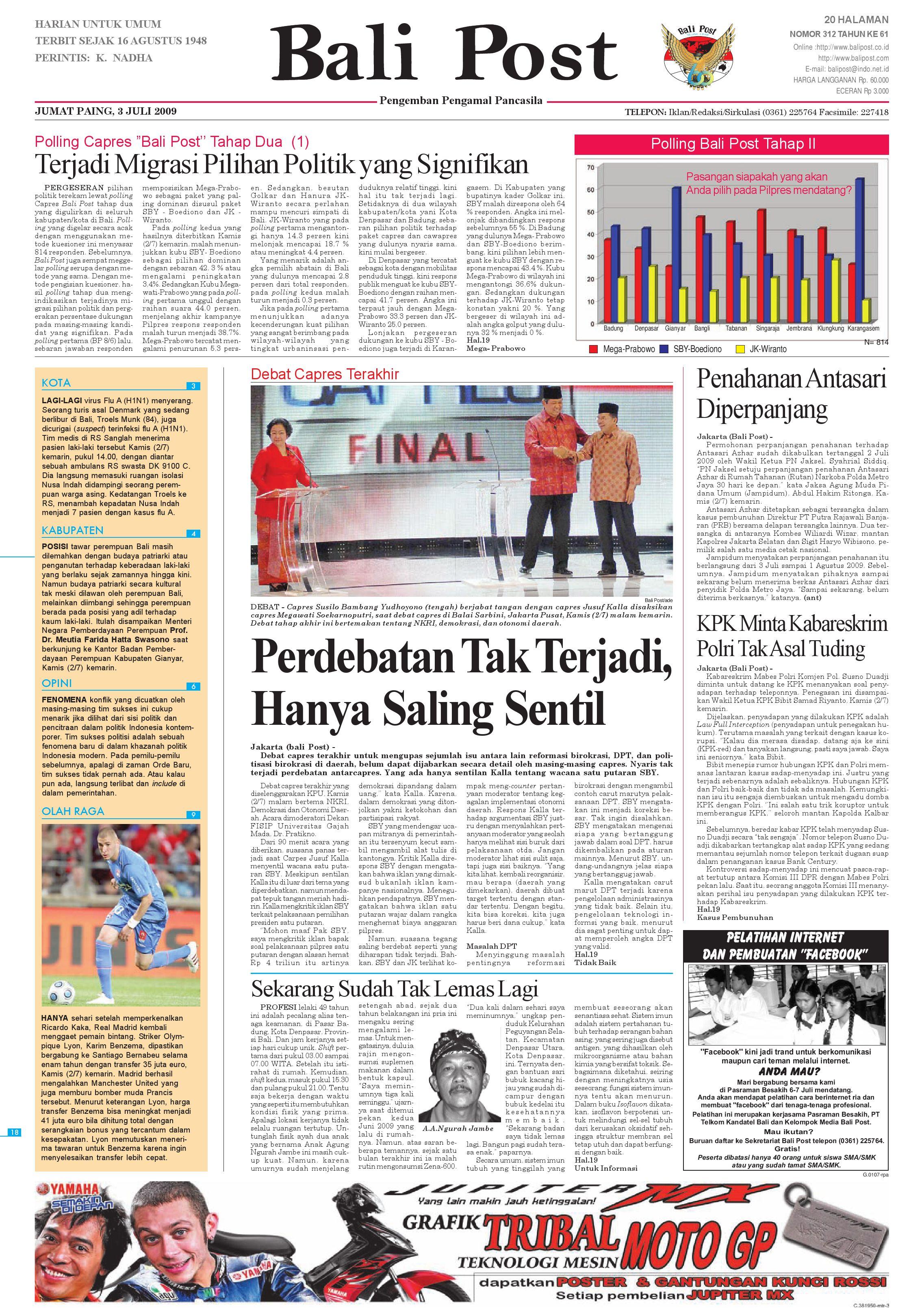 Bali Post Jumat 03 Juli 2009 By E Paper Kmb Issuu