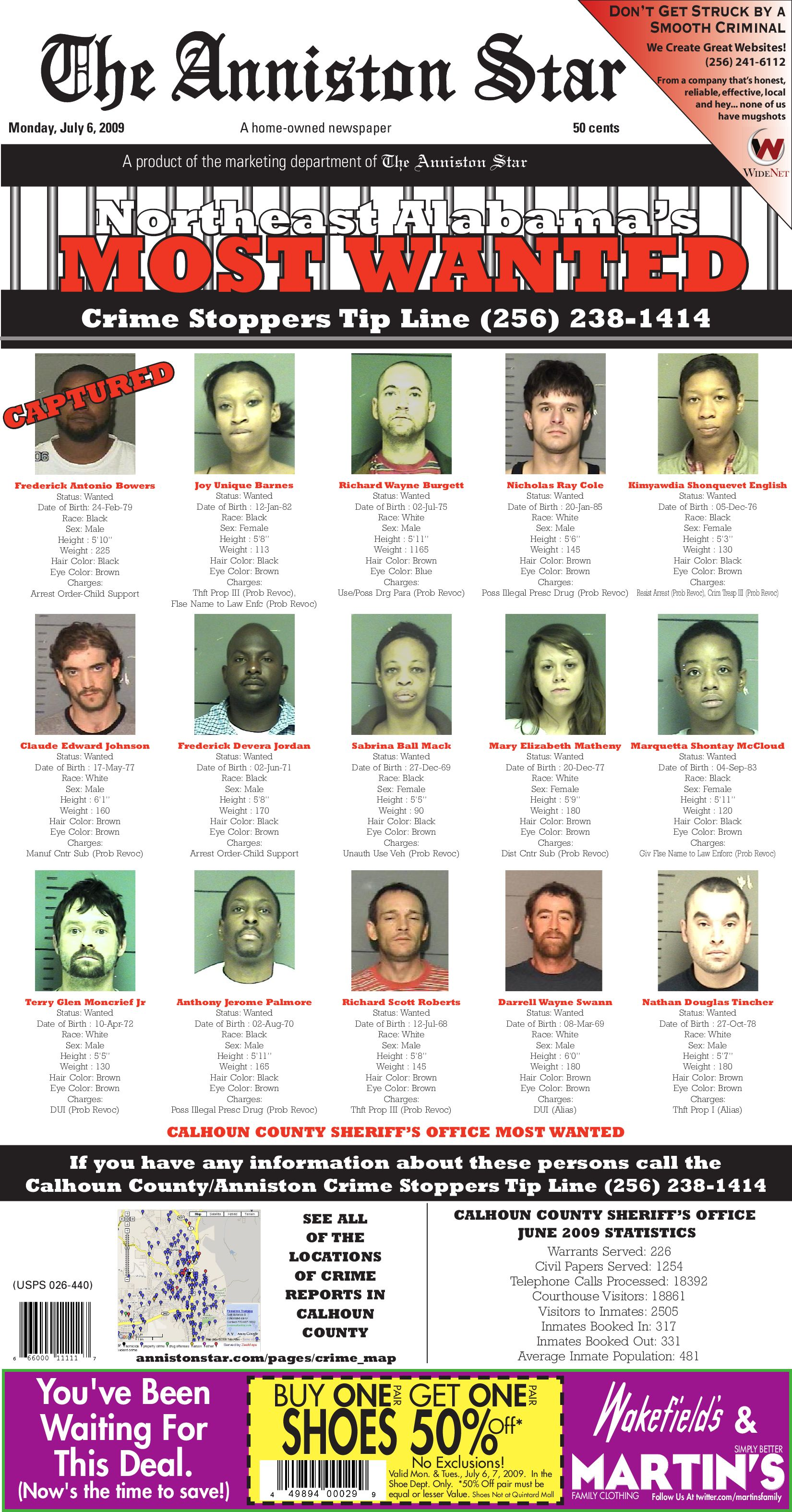 Calhoun County's Most Wanted by Consolidated Publishing Co  - issuu