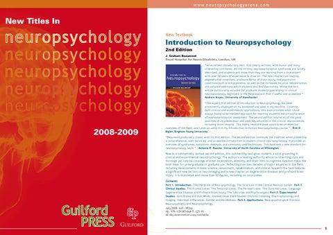 Guilford Press Neuropsychology by Psychology Press