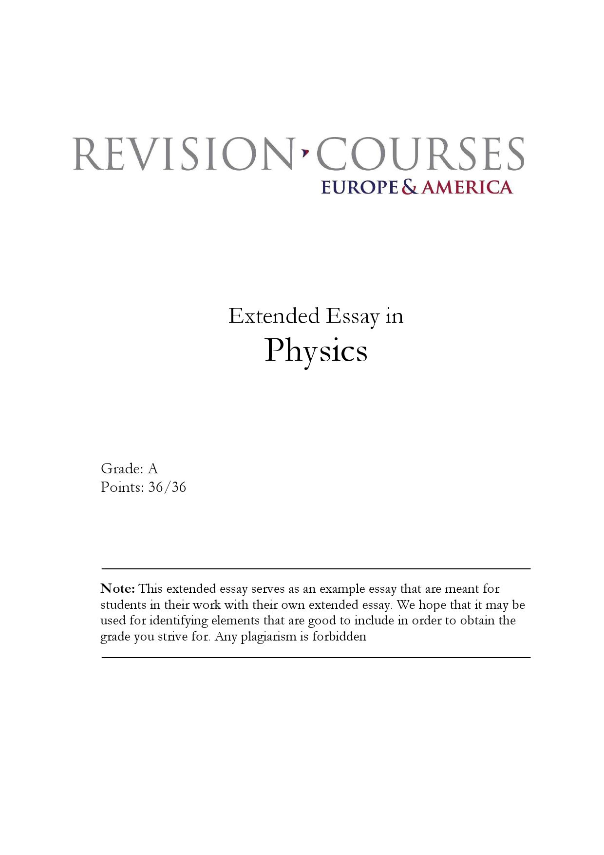 extended essay in physics by revision courses europe america issuu