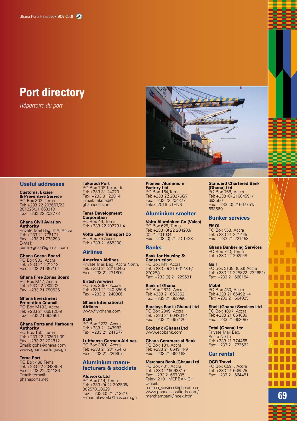 Ghana Ports Handbook 2007-2008 by Land & Marine Publications
