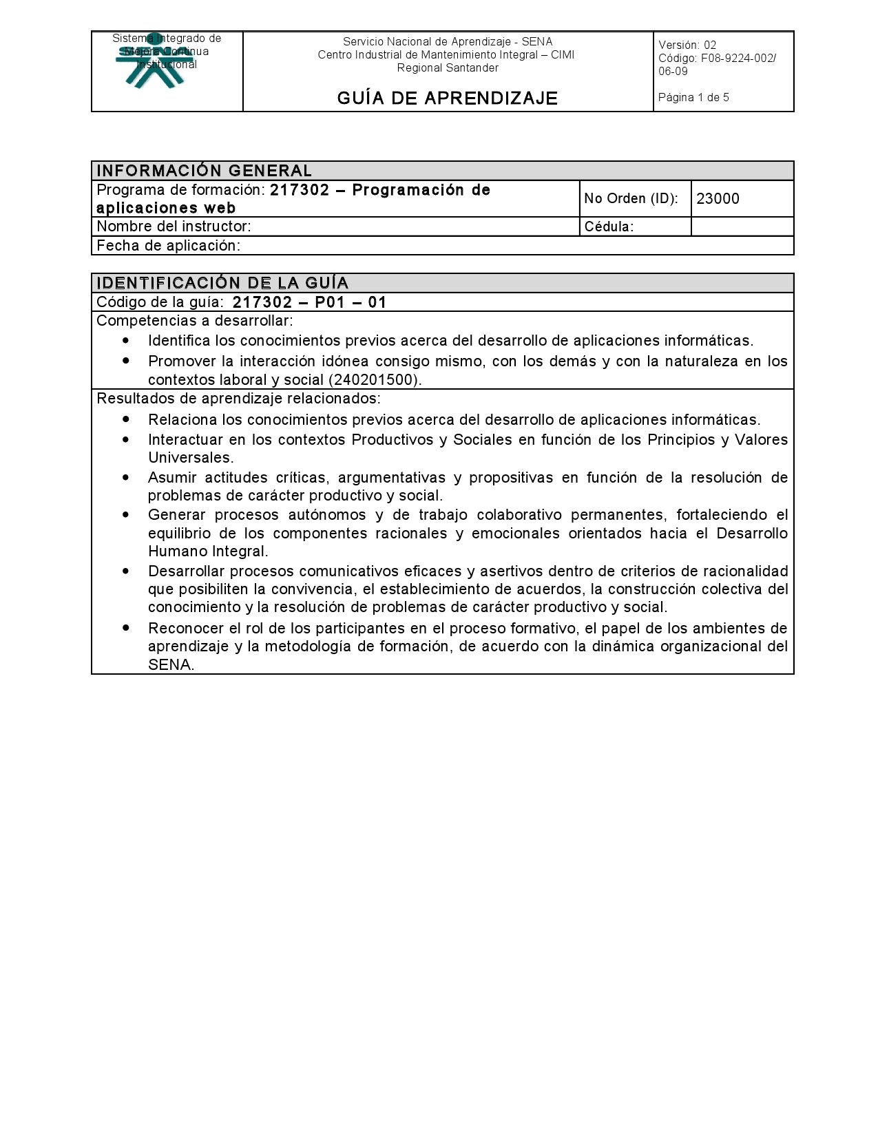 GUIA 01 - Identificación de aprendizajes previos by SENA CIMI ...