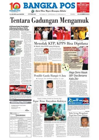 Harian Pagi Bangka Pos Edisi 08 Juli 2009 by bangka pos - issuu 5b1b64af9f