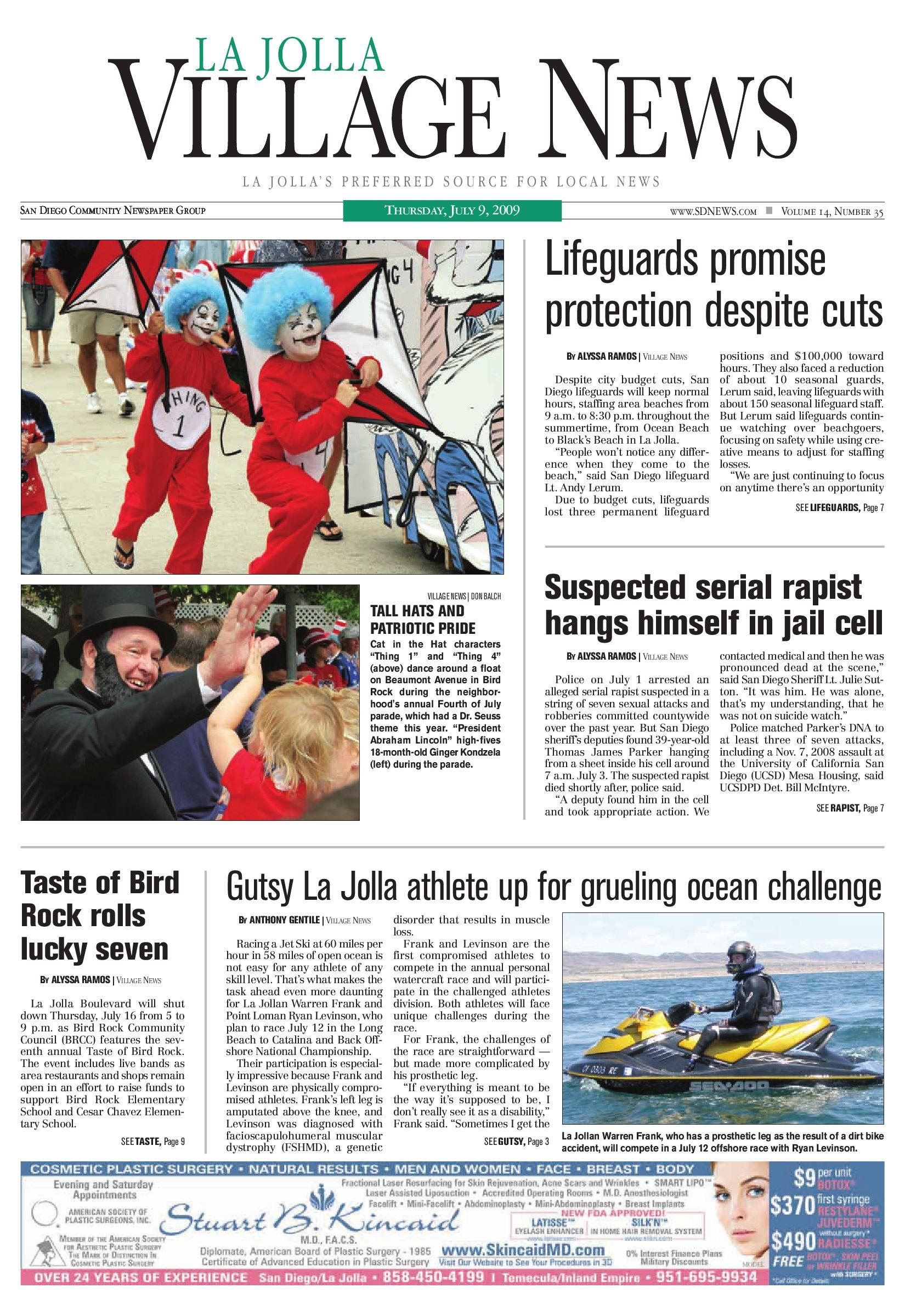 La Jolla Village News July 9th 2009 By San Diego Community Newspaper Group Issuu