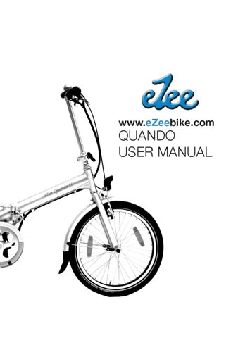 Quando Scoobike Ezee User Manual