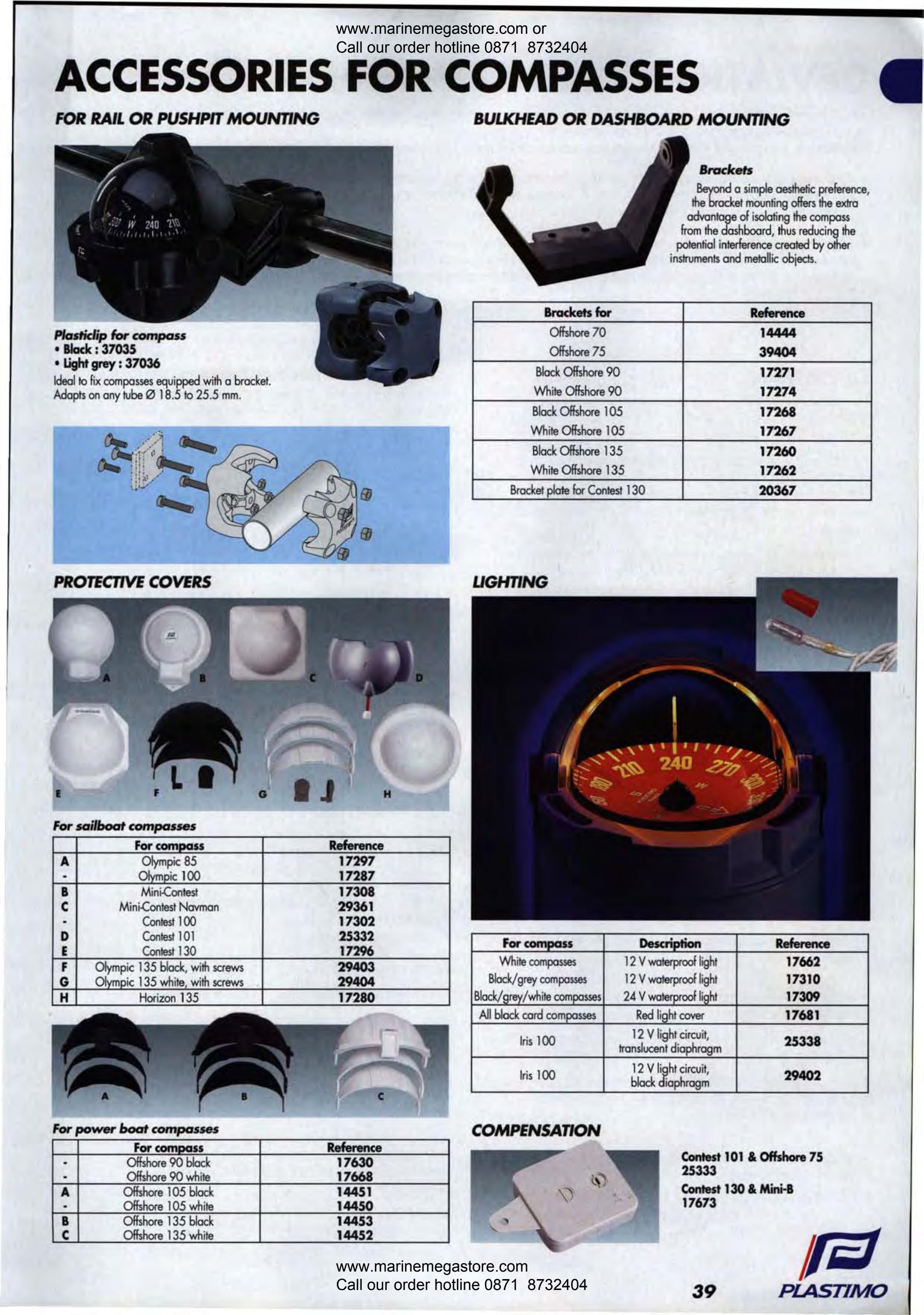 PLASTIMO OFFSHORE 90 COMPASS PROTECTIVE COVER  BLACK  17630