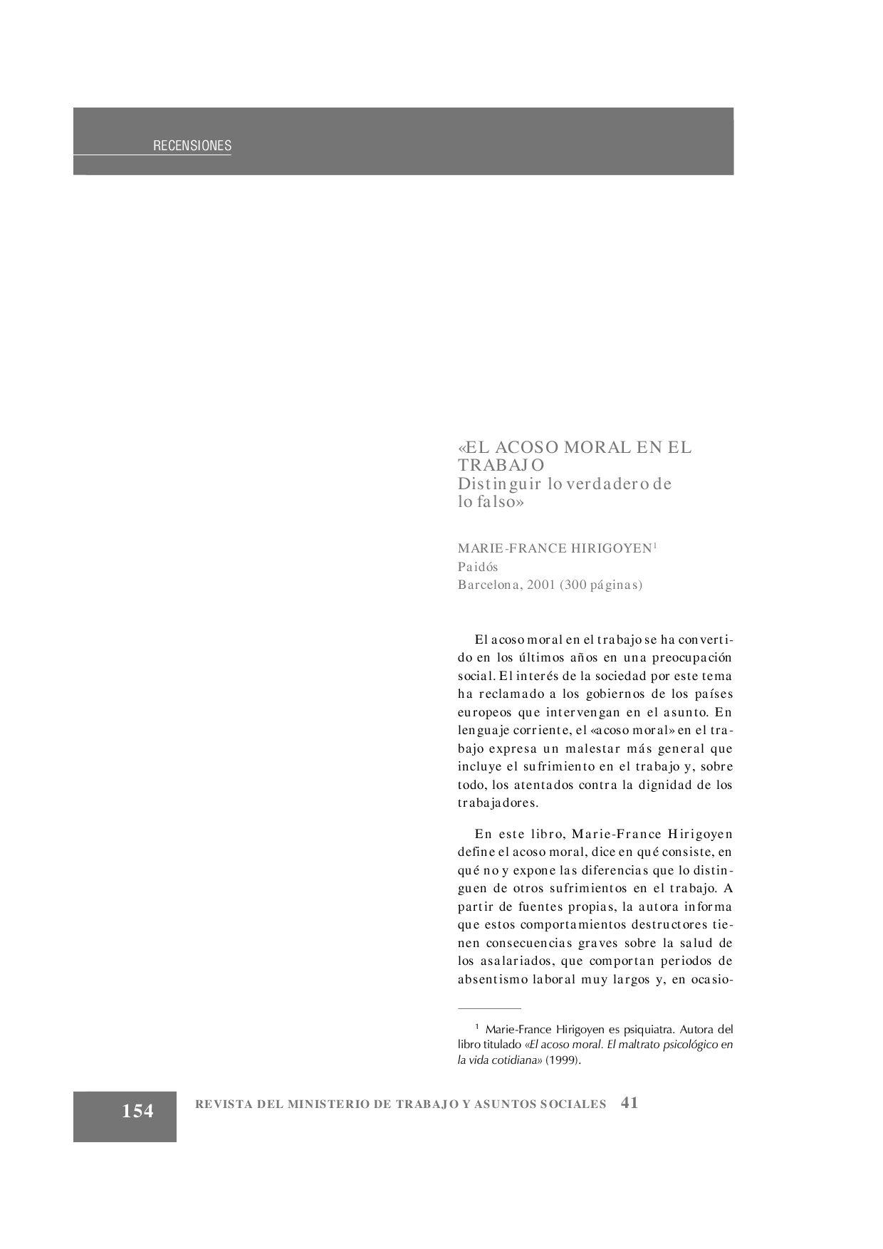El Acoso Moral En El Trabajo By Jorge Jorge Baglietto Issuu