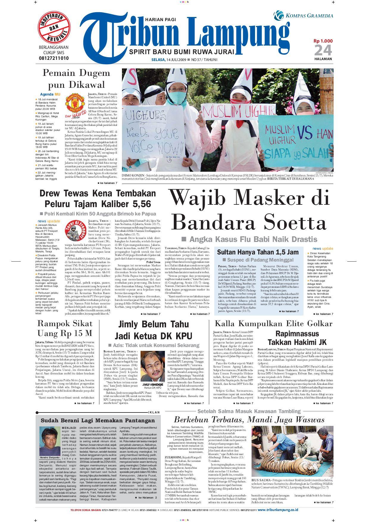 Tribun Lampung 140juli 2009 By Issuu Kopi Bubuk Asli Pagar Alam Butik 3 Size Plg