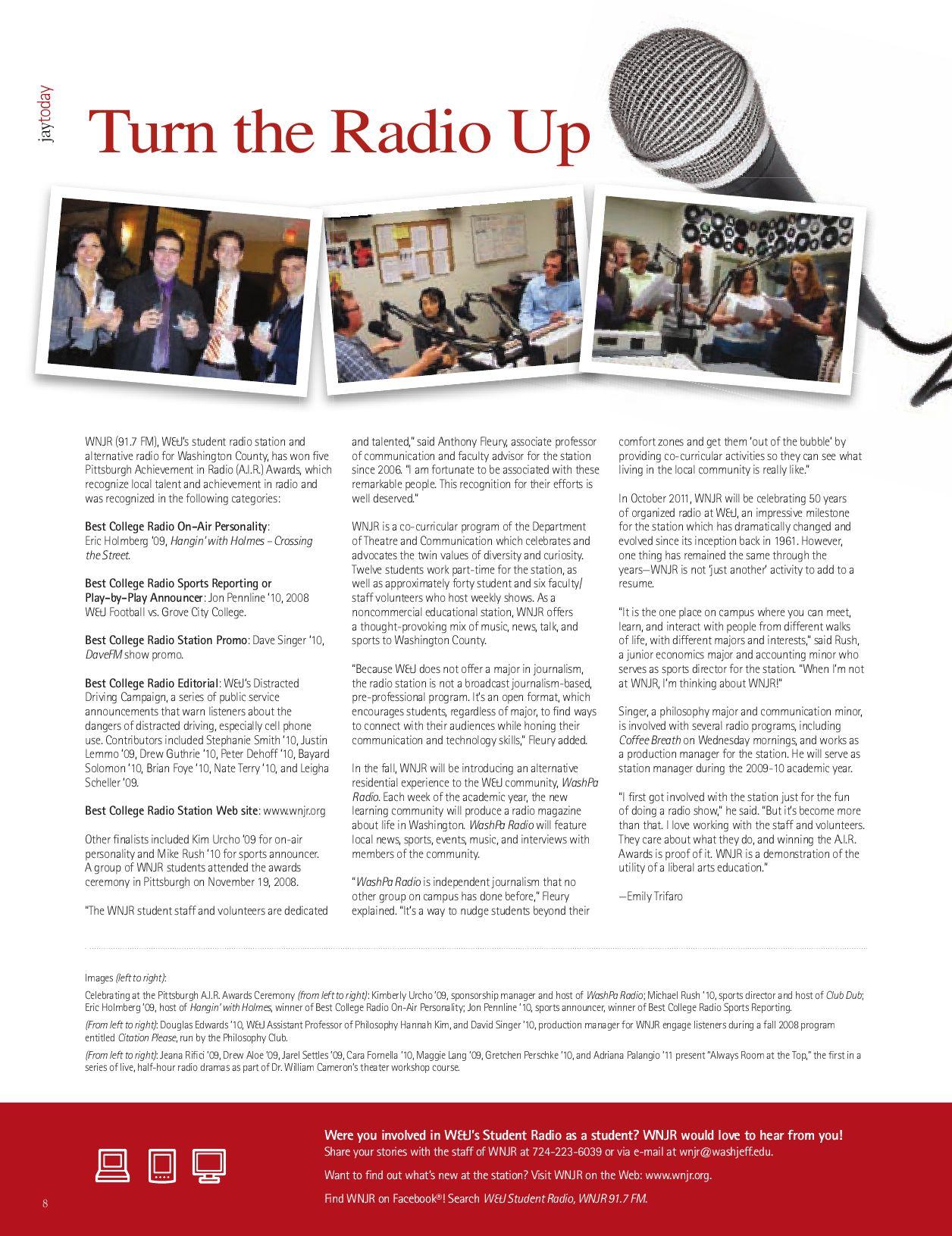 W&J Alumni Magazine - Making Their Mark: Celebrating Our