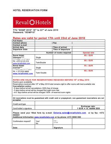 Hotel Reservation