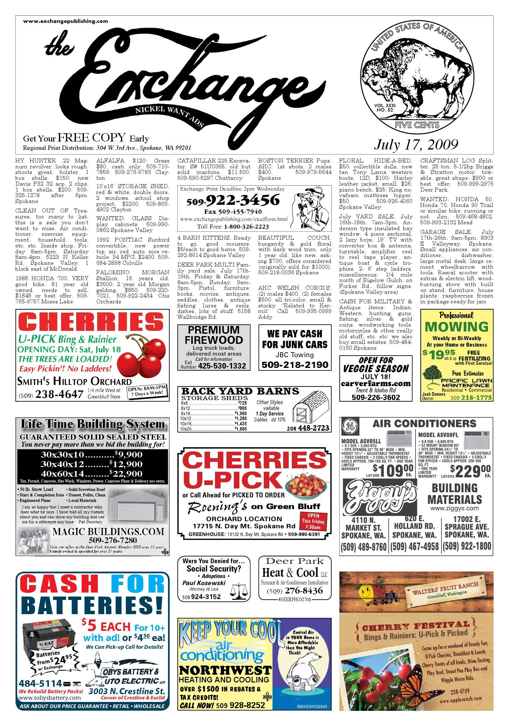 Exchange - July 17, 2009 by Exchange Publishing - issuu