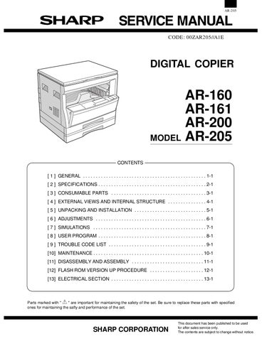 sharp ar 163 service manual by krasi ganev issuu rh issuu com sharp copier manuals free sharp printers manual